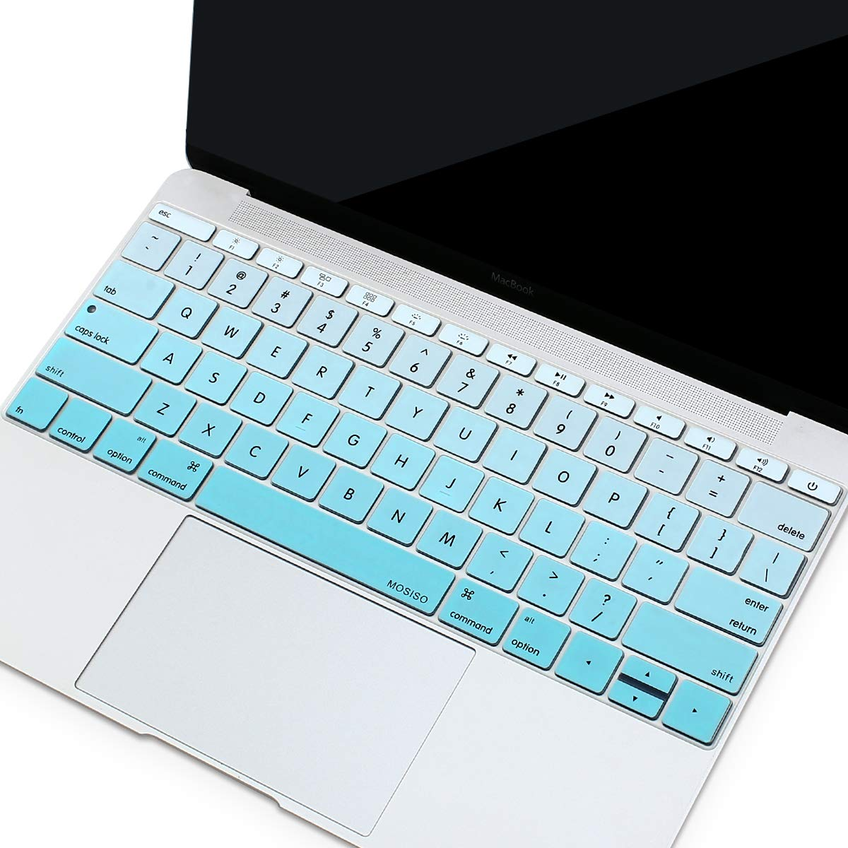 Serenity Blue MOSISO Silicone Keyboard Cover Protective Skin Compatible with MacBook Pro 13 inch 2017 /& 2016 Release A1708 Without Touch Bar MacBook 12 inch A1534