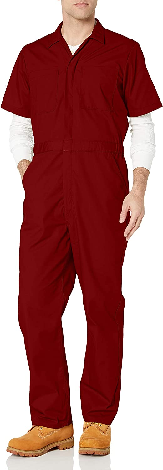 Amazon Essentials Men's Stain & Wrinkle-Resistant Short-Sleeve Coverall