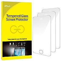 JETech 0318 - Pacco da 3 Pellicole Protettive in Vetro Temperato per iPhone SE/5s/5c/5