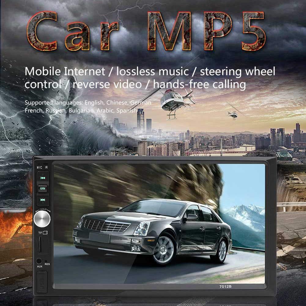 Aux Lif/éUP Bluetooth Car Stereo Car Radio 7 Pollici Touch Screen Dual DIN Car Mp5 Player Blu-Dente Player Display di Retromarcia Supporta Radio FM USB//Tf