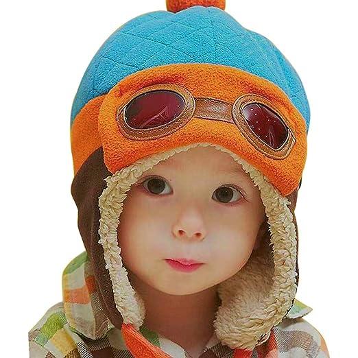 9a0fd5b82 Amazon.com  chinatera Baby Boys Hat Winter Warm Cap Hat Beanie Pilot ...