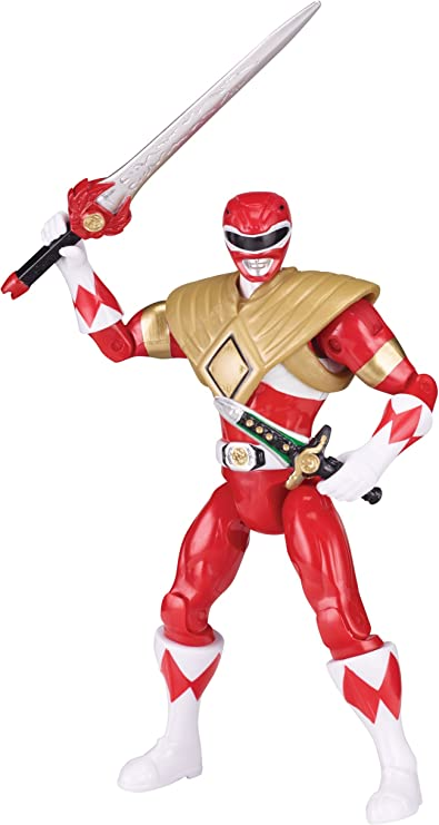 Mighty Morphin Power Rangers Red Ranger Dragon Shield Exclusive Action Figure Bandai America