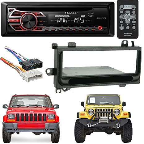 pioneer deh-150mp single din car stereo with mp3 playback metra 99-6700  single