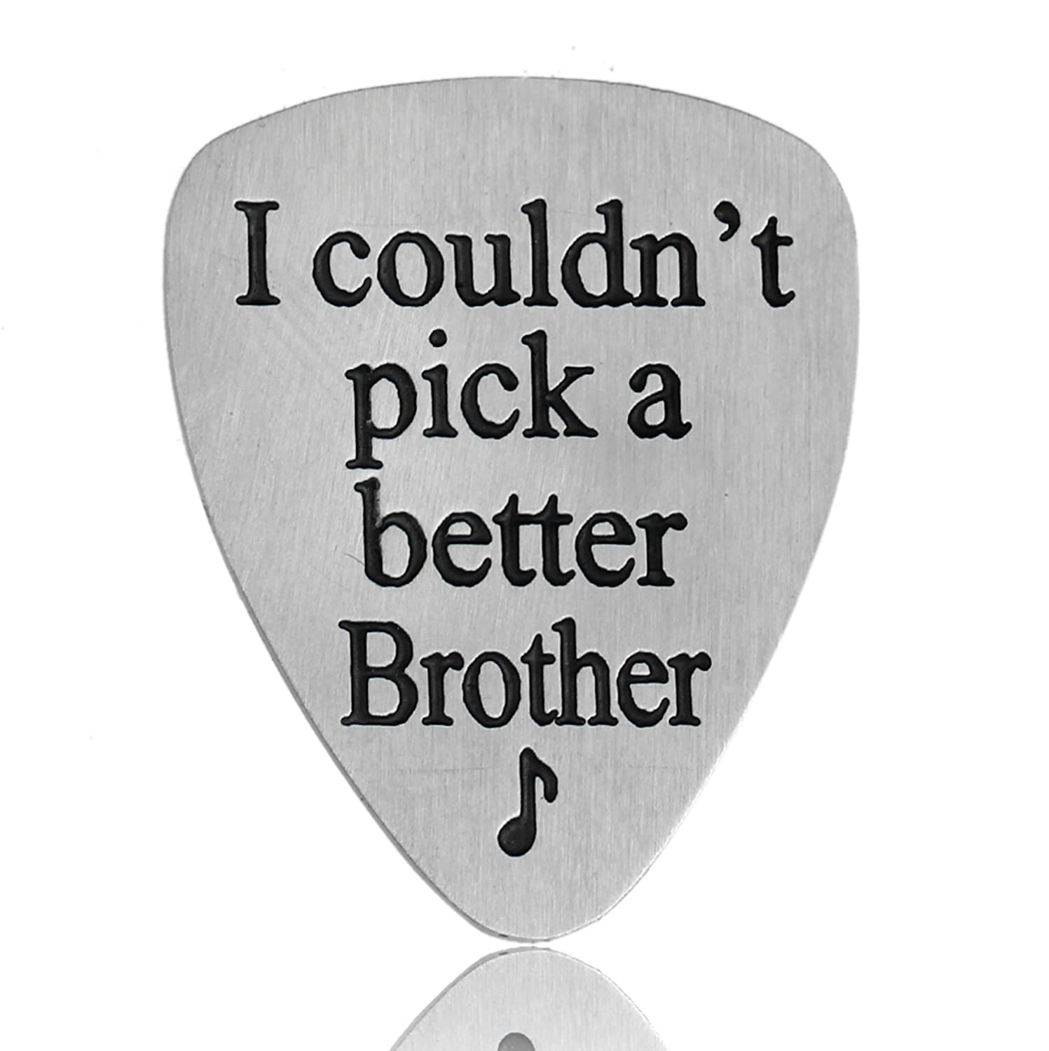 Amazon.com: I Couldn\'t Pick A Better Brother Musical Guitar Pick Men ...