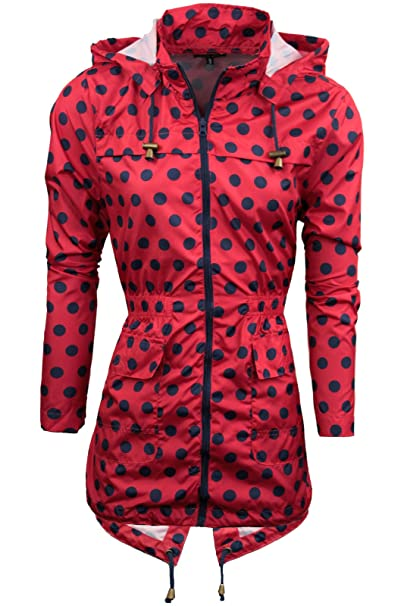 NEW RAIN MAC Ladies PARKA Shower Womens Festival RAINCOAT Size 10 12 14 16 20 22