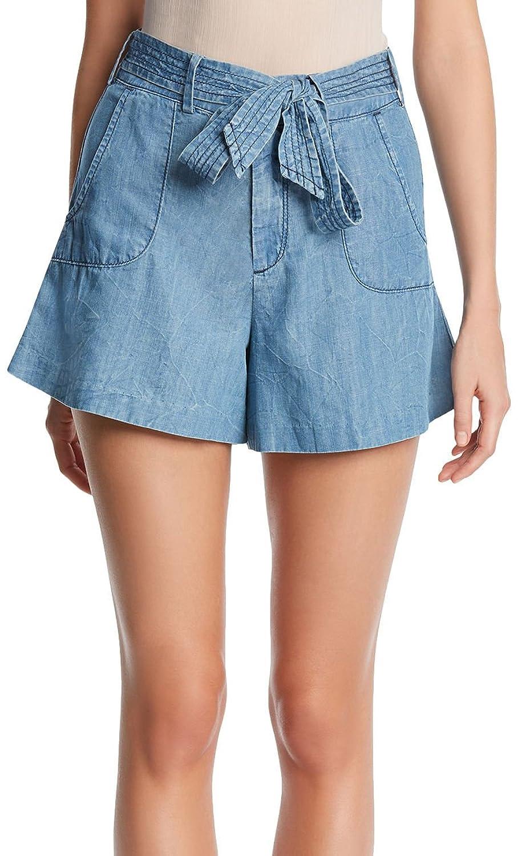Kiind Of Womens Haro Tie Waist Soft Denim Shorts-8,UPTOWN BLUE hot ...