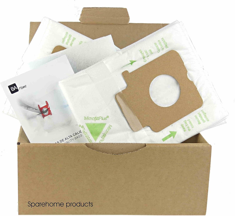 SpareHome 10 Bolsas 2 microfiltros recortables para Aspirador ...