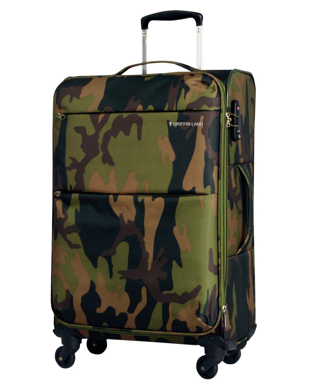 [グリフィンランド]_Griffinland TSAロック搭載 スーツケース ソフトタイプ  超軽量 AIR6327(solite) ファスナー開閉式 S型国内国際線機内持込可 5色3サイズ B01H50V7Z4 M(中)型|カモフラージュ カモフラージュ M(中)型