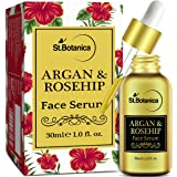 StBotanica Argan & Rosehip Face Serum - 30ml - For Anti Aging, Anti Wrinkle & Skin Glow