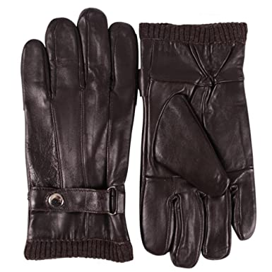 644da3379498f Winter Driving Gloves Men, HZIC Cold Winter Warm Genuine Leather Gloves  Cyber Monday (Brown