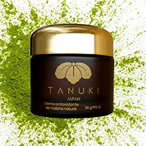 Crema Facial Antioxidante de Matcha Tanuki Japan (50gr). Tratamiento antiedad día y noche, cara y contorno de ojos 15 FPS. Protege, hidrata, mejora aspecto, repara arrugas, aclara manchas. Ultra Antioxidant Matcha Face Cream.