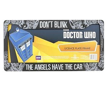 doctor who license plate frame dont blink weeping angel design 625 - Doctor Who License Plate Frame