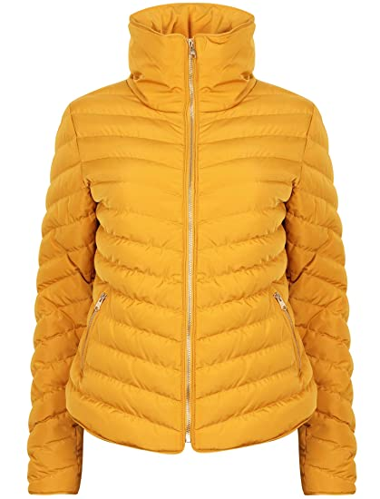 c567f91e5a6 Tokyo Laundry Women's Cardamon Funnel Neck Quilted Jacket: Amazon.co ...