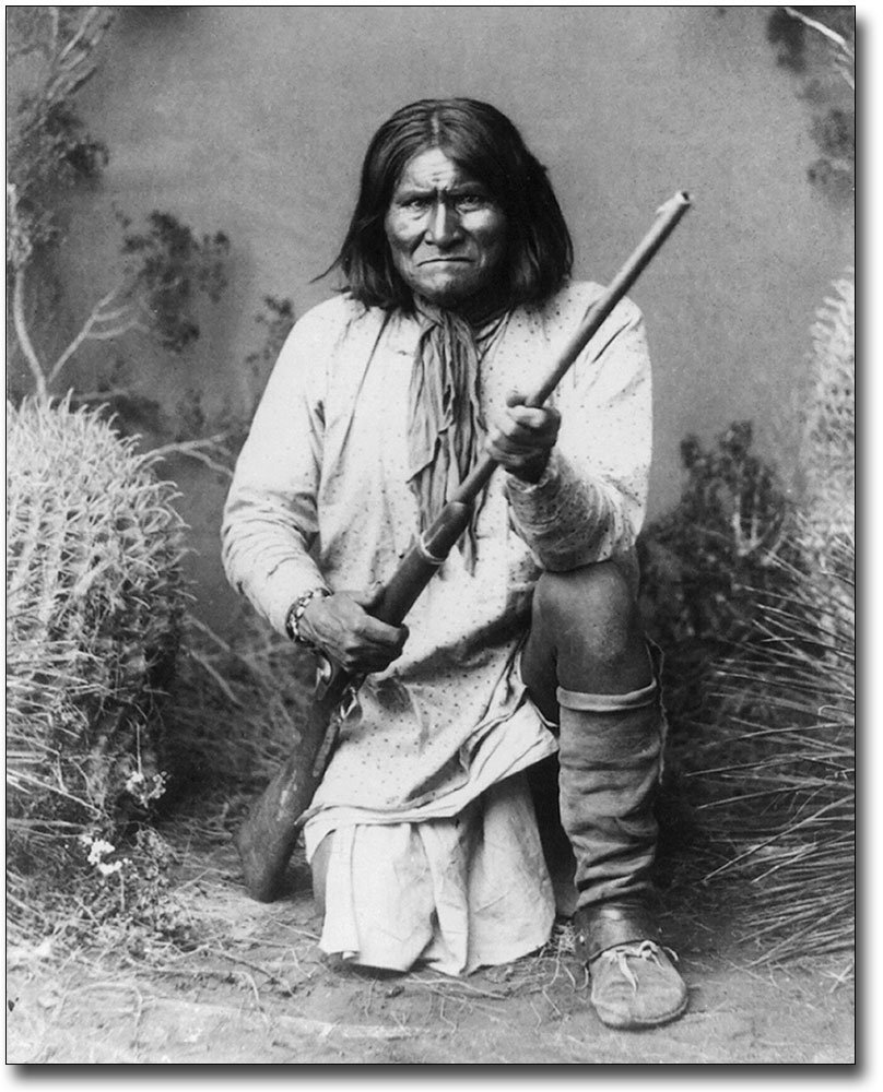 Native American Indian Geronimo Portrait 8x10 Silver Halide Photo Print by The McMahan Photo Art Gallery & Archive