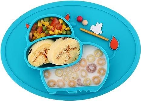 Mantel individual de silicona para bebés, platos para niños ...