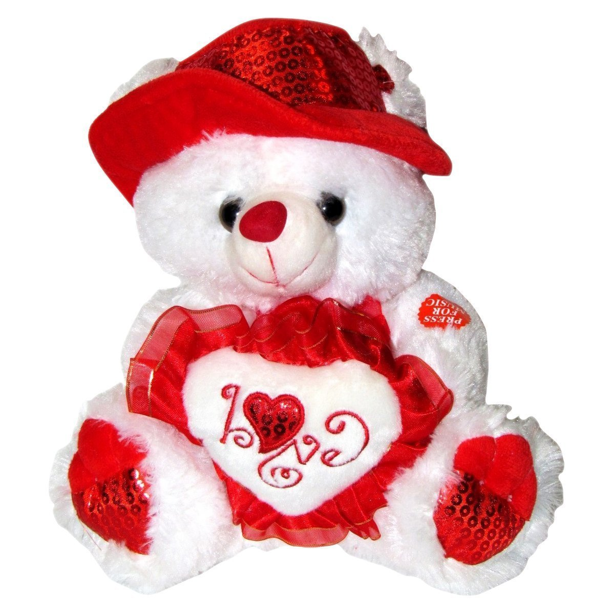 Amazon Com Musical I Love You Teddy Bear With Red Hat 11 Plays