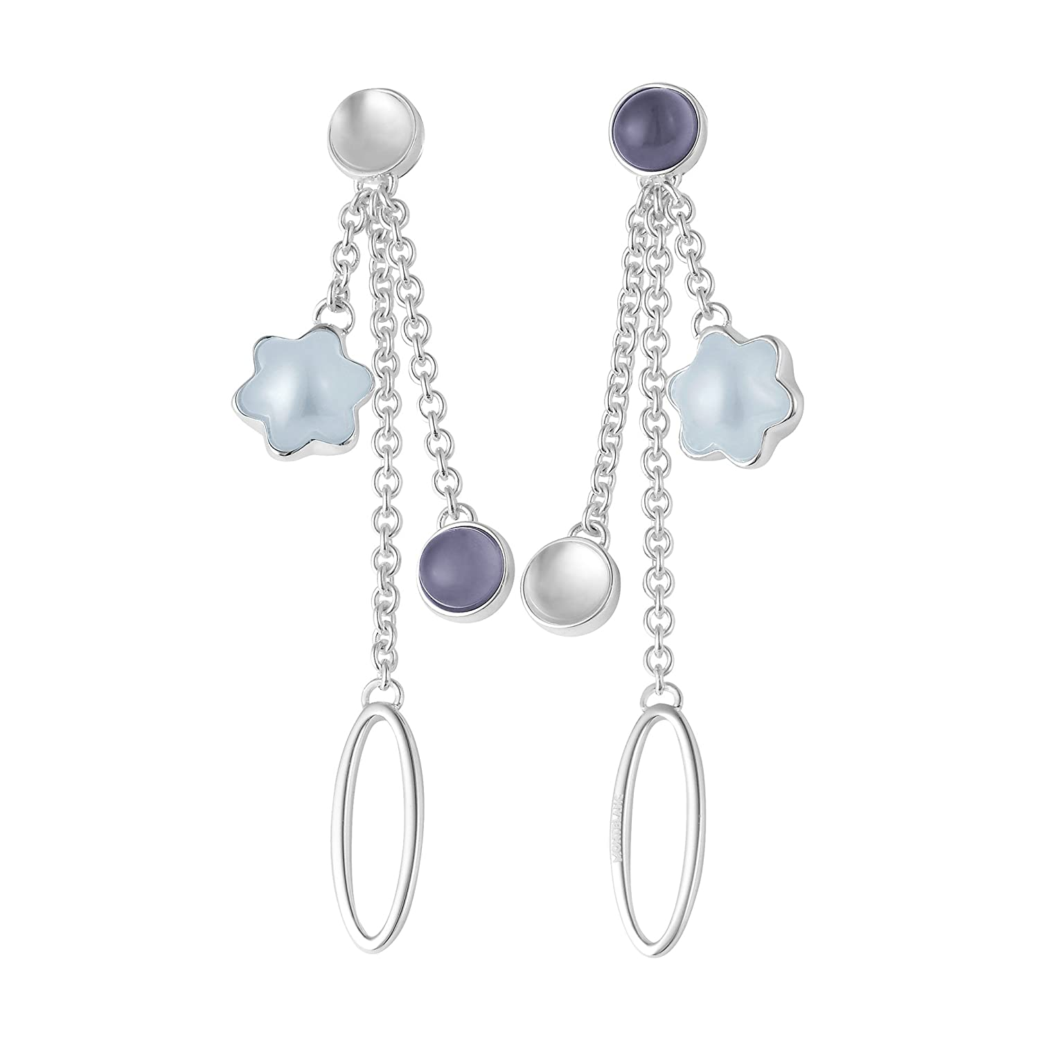 ce92c0752c8f0 Amazon.com: Montblanc 106872 Cabochon Sterling Silver 925 Earrings: Jewelry