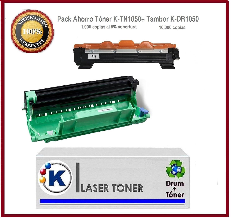 DR1050+TN1050 - Pack tambor + tóner para impresora Brother: DCP ...