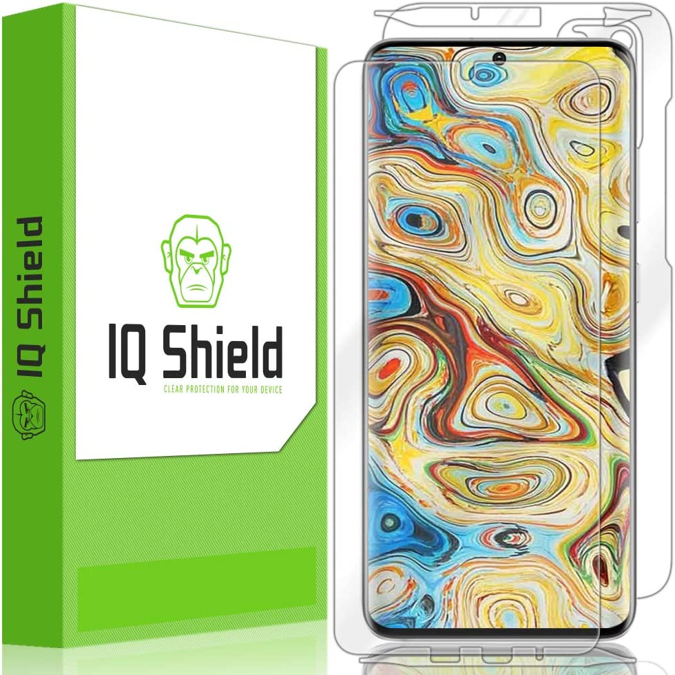 S20+ 6.7 inch Screen Protector HD and Anti-Bubble Film Includes Clear Full Coverage IQ Shield Full Body Skin Compatible with Samsung Galaxy S20 Plus