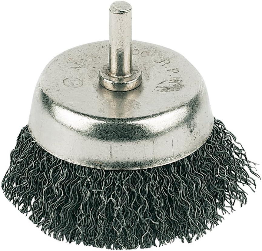 Silverline PB03 Brosse boisseau sur tige /à fils ondul/és 50 mm