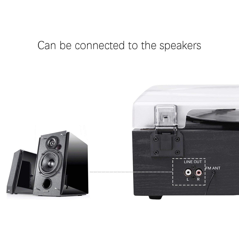 AM Kassette SD Kodierung in MP3 MUSITREND 3 Speed Plattenspieler mit LCD Display Unterst/ützt USB Recorder MP3 /& WMA Wiedergabe FM Radio