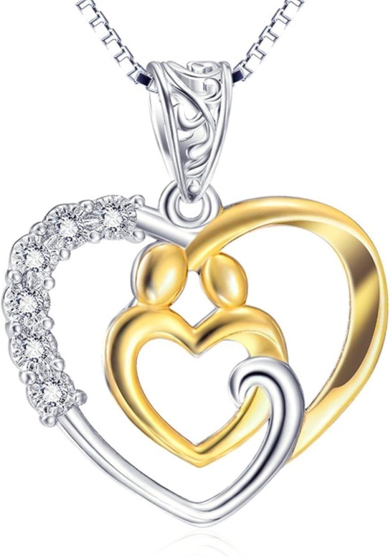 CS-DB Pendants Our Hearts /& Love Silver Necklaces
