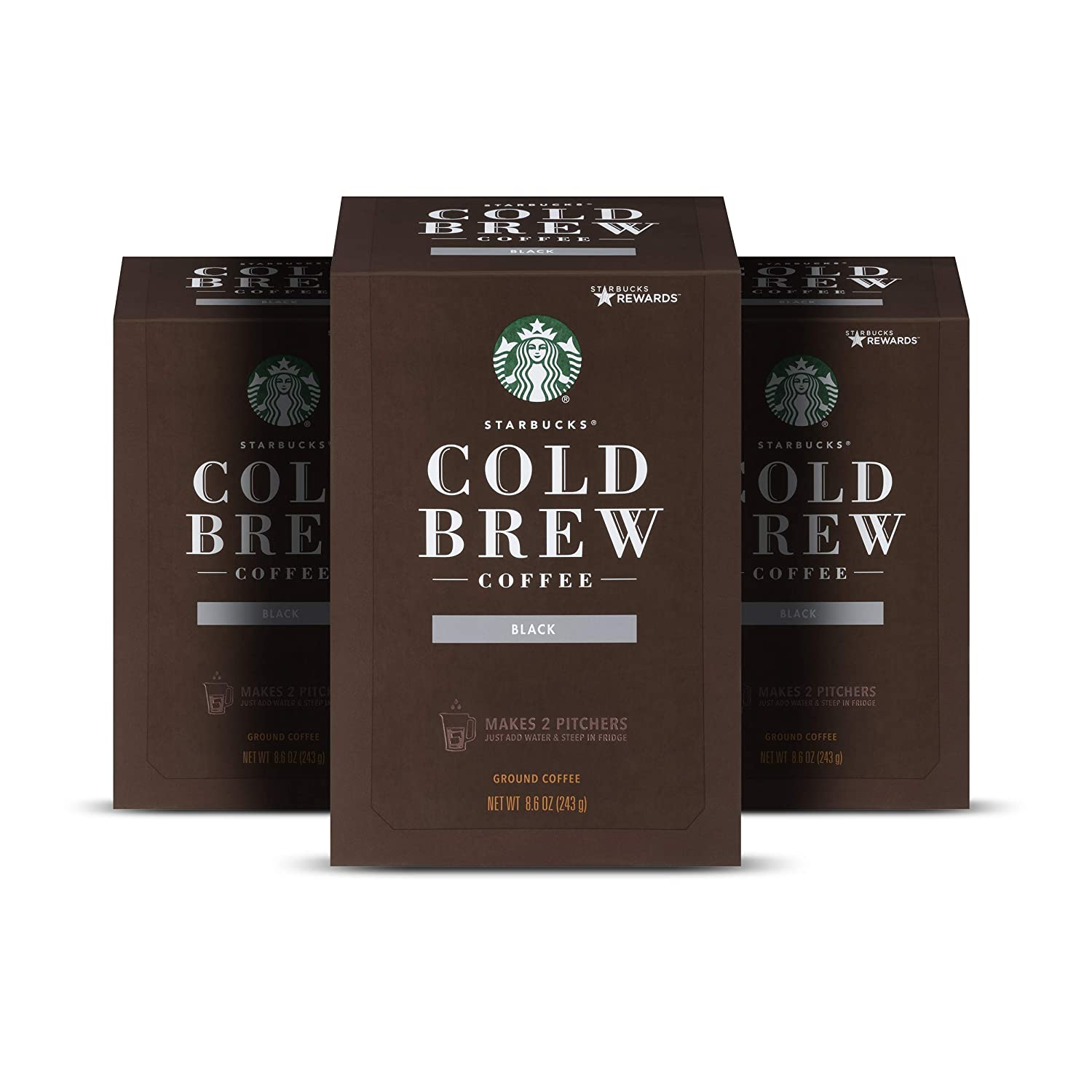 Starbucks Cold Brew Coffee, Medium Roast Coffee, 8.6 Oz., 3 boxes makes 6 pitchers