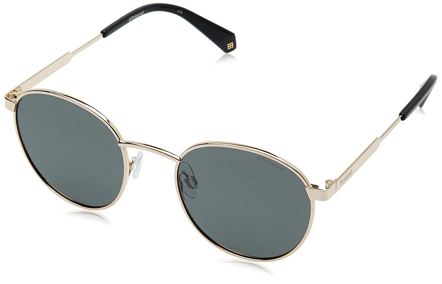da41de95bd Amazon.com  Polaroid PLD2053 S 2F7 Antique Gold PLD2053 S Round Sunglasses  Polarised Lens C  Clothing