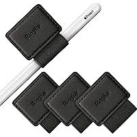 Ringke Stojak na Długopis dla Apple Pencil, Journal, Notebooki i Nie Tylko Samoprzylepna Skóra PU 3M z Gumką - Czarny (3…