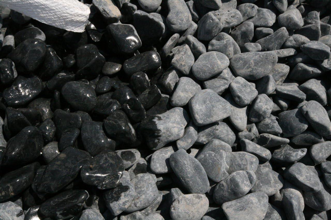Velestone 50 Sacos 20 kg. Cantos rodados Jardin (40-60, Negro): Amazon.es: Jardín