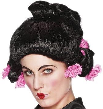 Smiffys - Peluca de geisha para mujer: Amazon.es: Juguetes y juegos