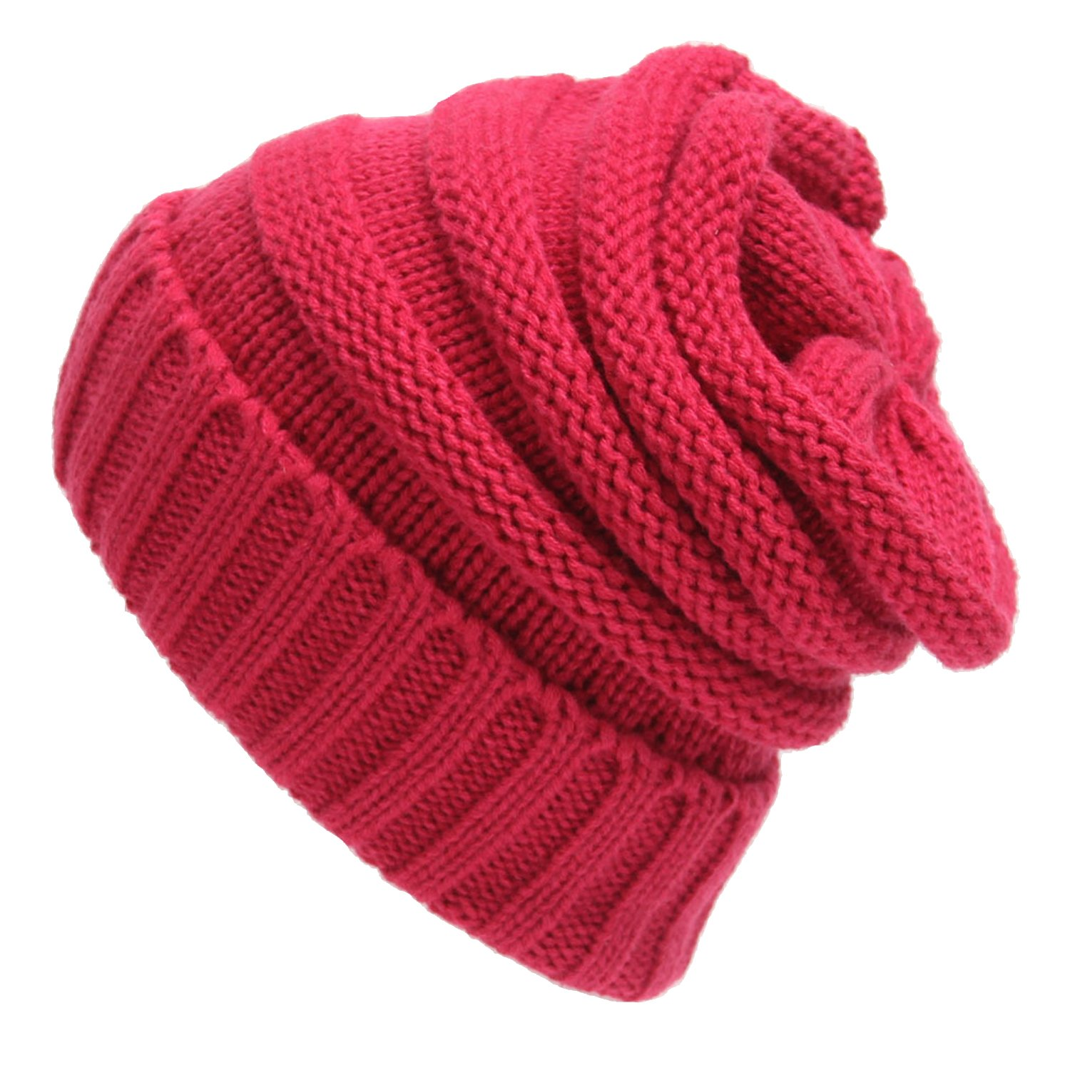Youndcc Womens Warm Soft Stretch Knitted Skullies Beanie Earcuff Hat