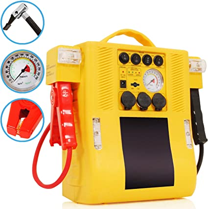 SL 12V 900A 400A Car Power Pack Portable Jump Start Battery Booster Compresor de Aire: Amazon.es: Coche y moto