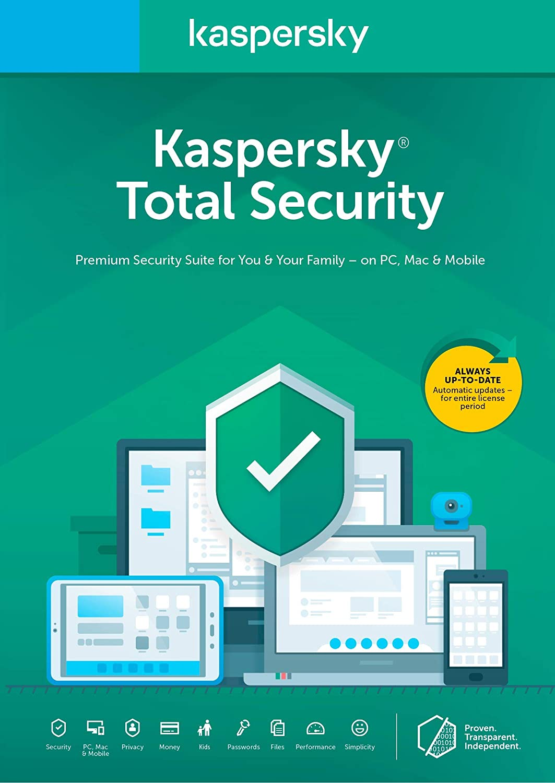 Kaspersky Total Security 2018 | 5 Device | 1 Year [Key Code] 71k550kECVL