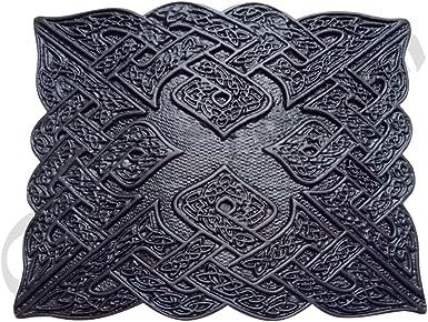 Scottish buckle Highland Celtic Design Kilt Belt Buckle Antique Chrome Jet Black