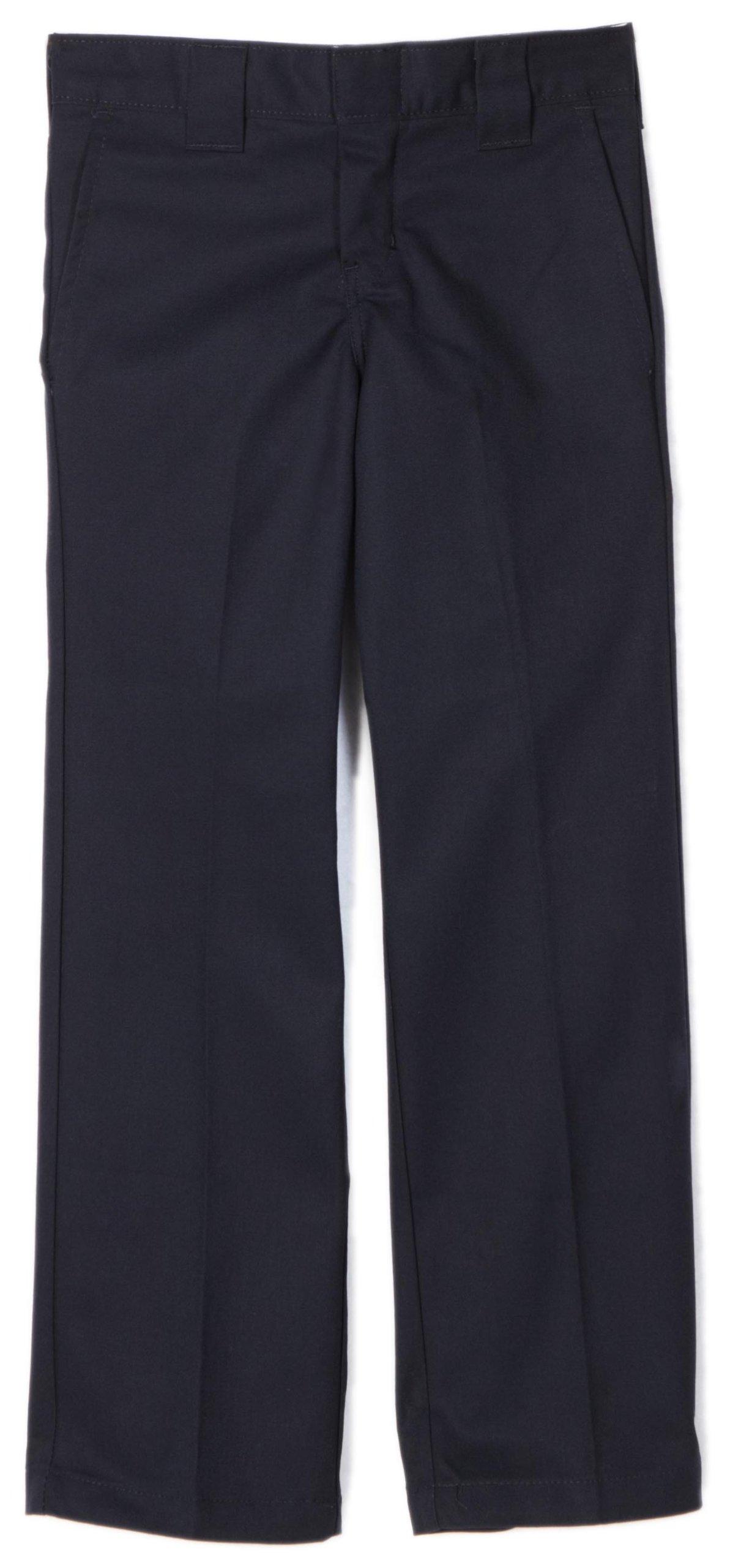 Dickies Big Boys' Slim Straight Pant, Dark Navy, 20
