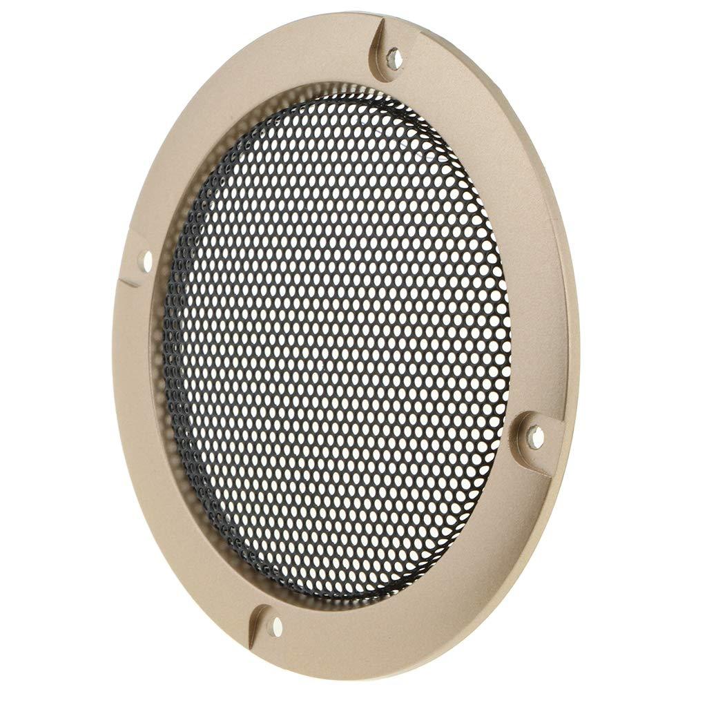 9,5 9,5cm Or B Baosity Haut-Parleur Audio Grille Maille avec 4 Vis Installation