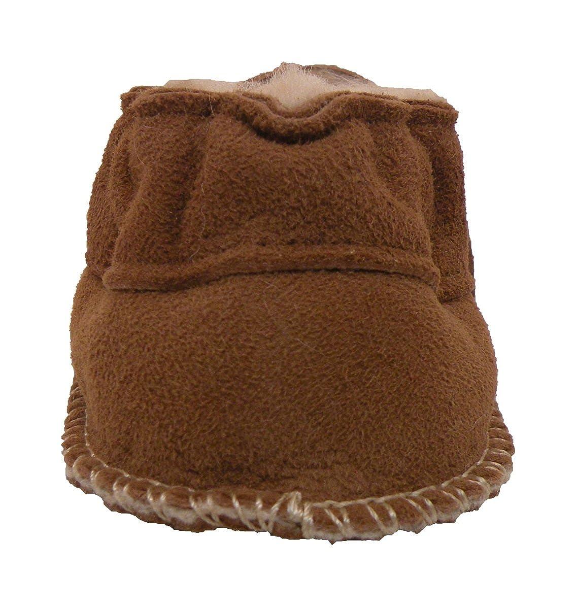 Chaussons Chaussures b/éb/é en cuir souple avec doublure en VERITABLE laine dagneau bottines gar/çon fille enfant Plateau Tibet Fleur rouge