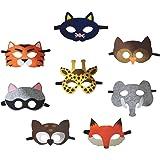 Petitebella 8 Packs Animal Eyewear Mask Dress Up Costume for Children 2+