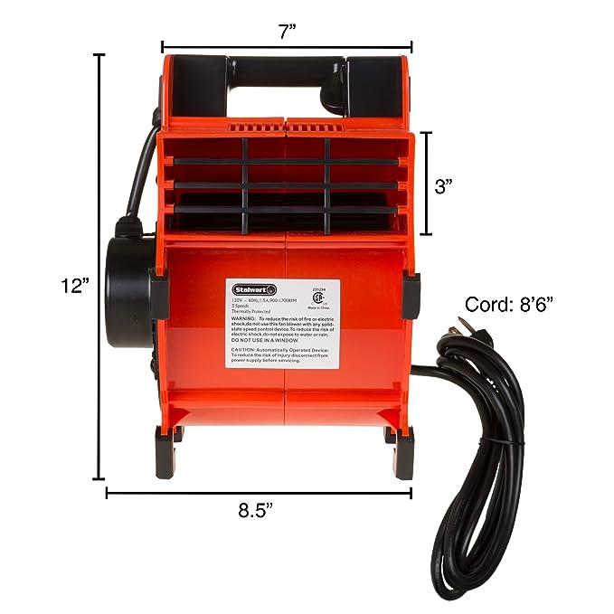Amazon.com: Portable Adjustable Industrial Fan Blower- 3 Speed Heavy Duty Mechanics Floor and Carpet Dryer By Stalwart: Home & Kitchen