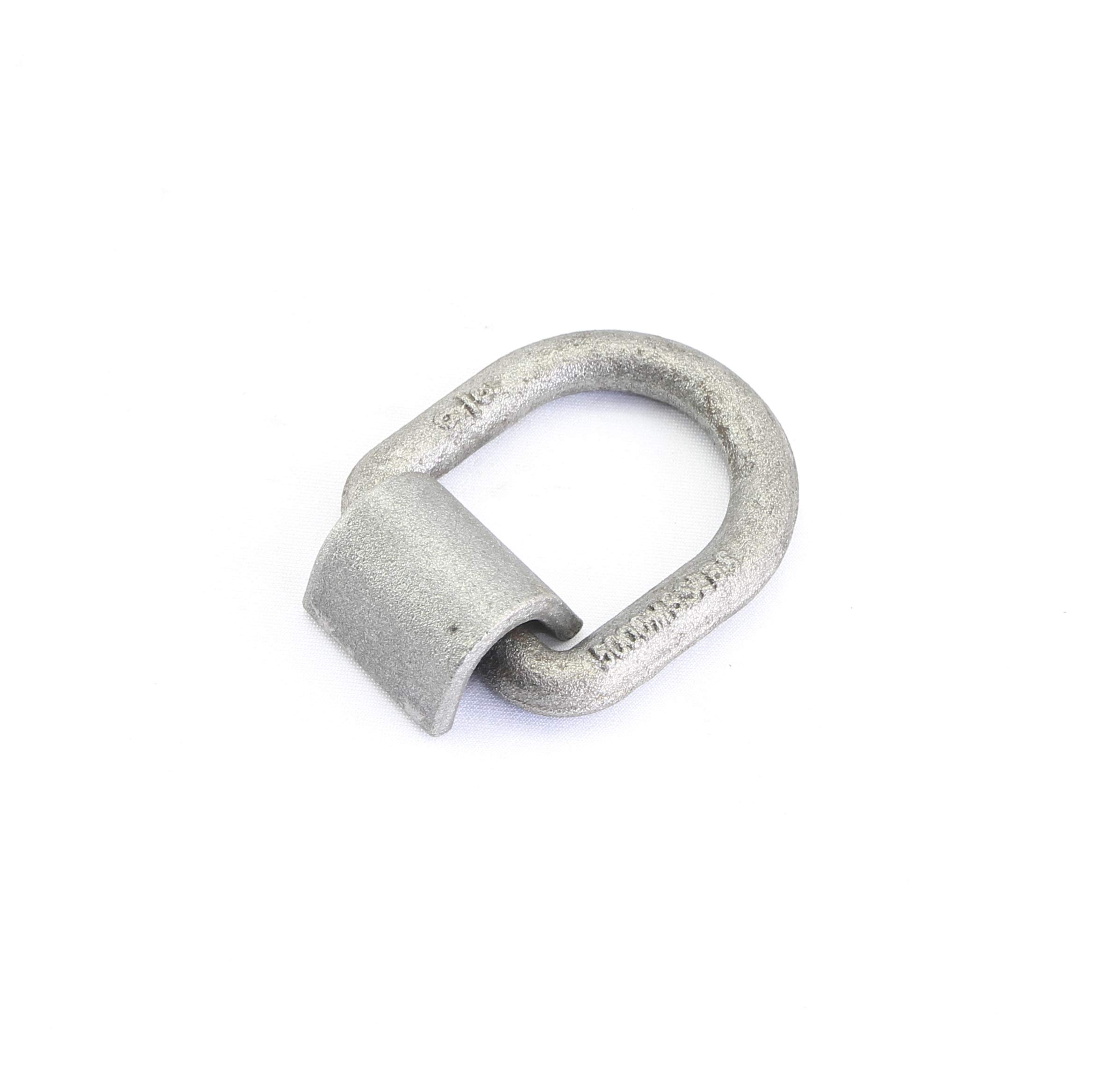 3/8'' 5,000 Lbs Load Capacity Weld-on Forged Flip D-ring Anchor (Pack of 12)