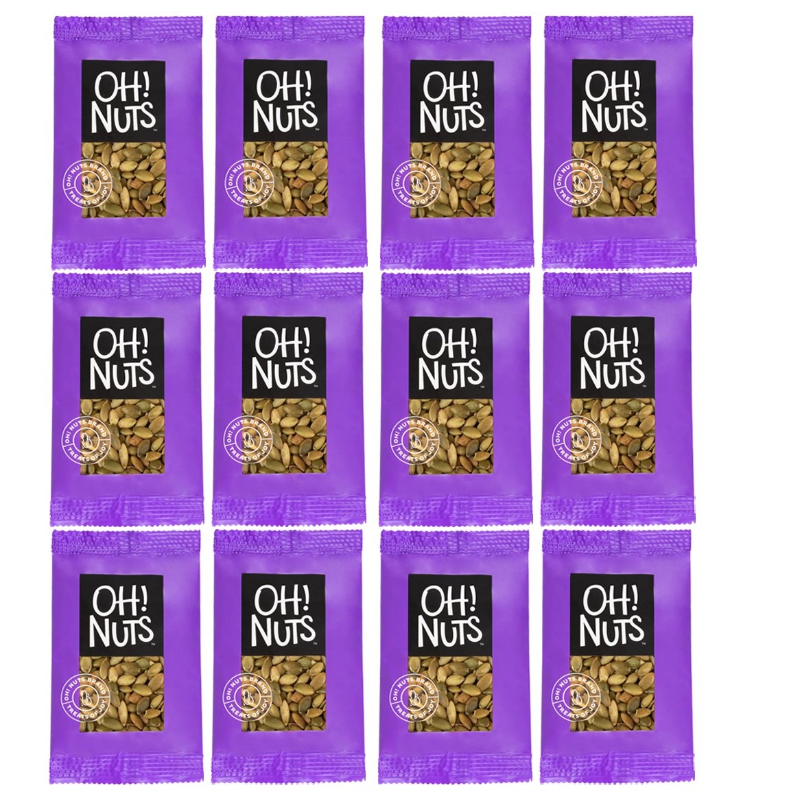 Oh! Nuts Healthy Pumpkin Seeds Roasted Salted | Pepitas Individual Servings Snack | Grab and Go Snacks Pack by Oh! Nuts®