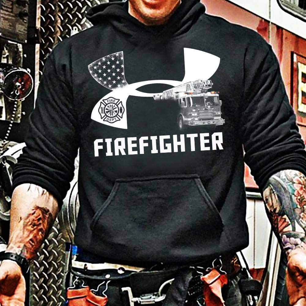 Firefighter Flag T-Shirt Sweatshirt Long Sleeve Hoodie