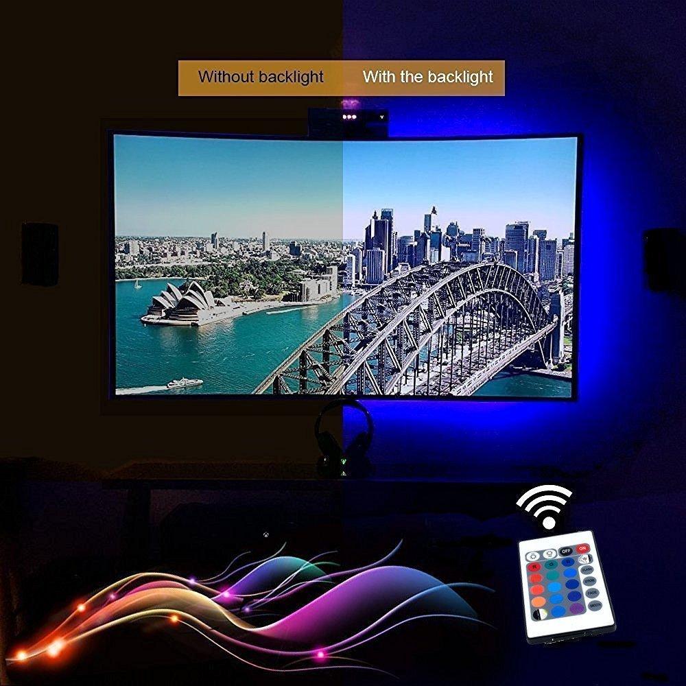 5v Usb Led Tv Backlight Rgb Strip Light Kit With Remote