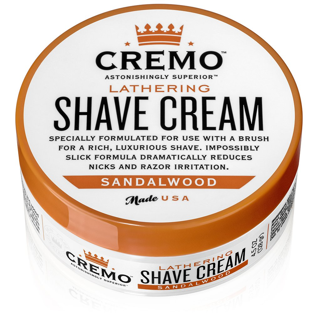 Cremo Lathering Shave Cream, Specially Formulated for Use With a Brush for a Luxurious Shave, 4.5 Ounces