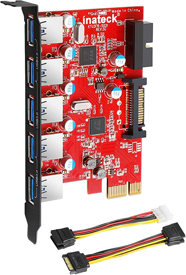 Inateck Pci E To Usb 3 0 5 Port Pci Express Card And Computers Accessories