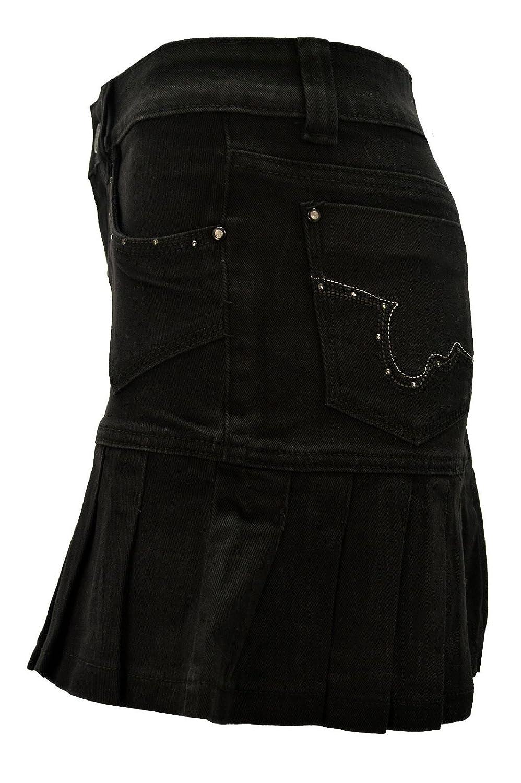 Women's Ladies Denim Stretch Mini Skirt Short