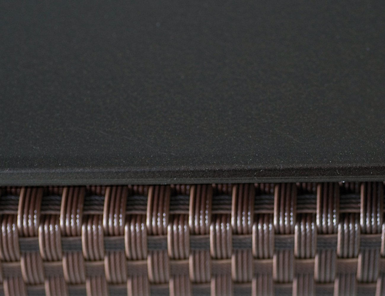 Siena Garden 573330 Tischplatte Tavilo, Dekor uni schwarz, 160 x 90 cm