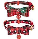 Christmas Cat Bow Tie Collar Breakaway Small Dog