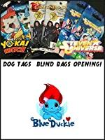 Yo Kai Watch Dog Tags & 2 Steven Universe and Disney Descendants Movie Blind Bags Toy Review.
